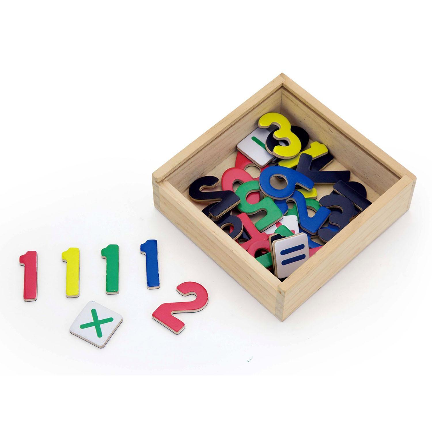 Childrens Wooden Magnetic Fridge Numbers Pieces Maths