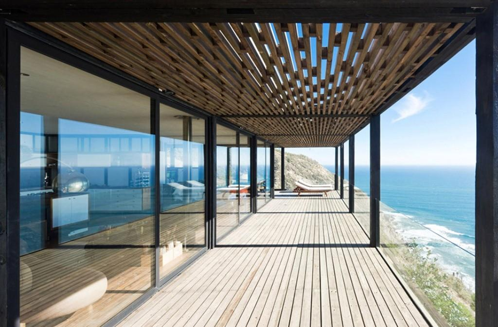 Chilean Beach Pavilion House Terrace