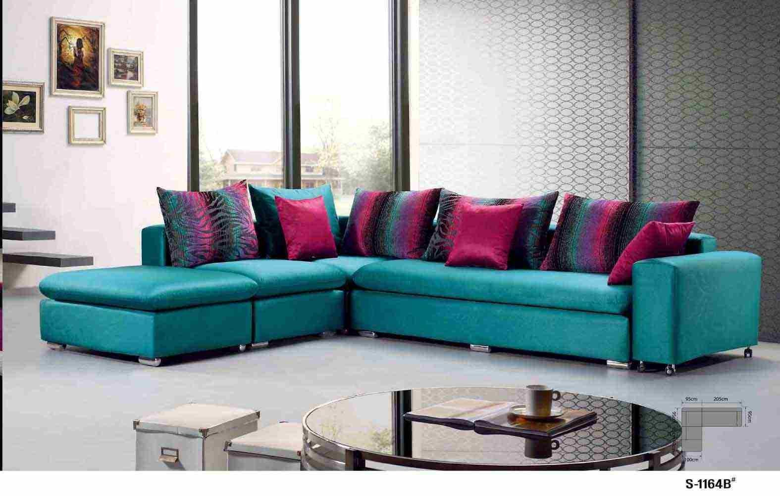 China Colorful Fabric Sofa 1164b