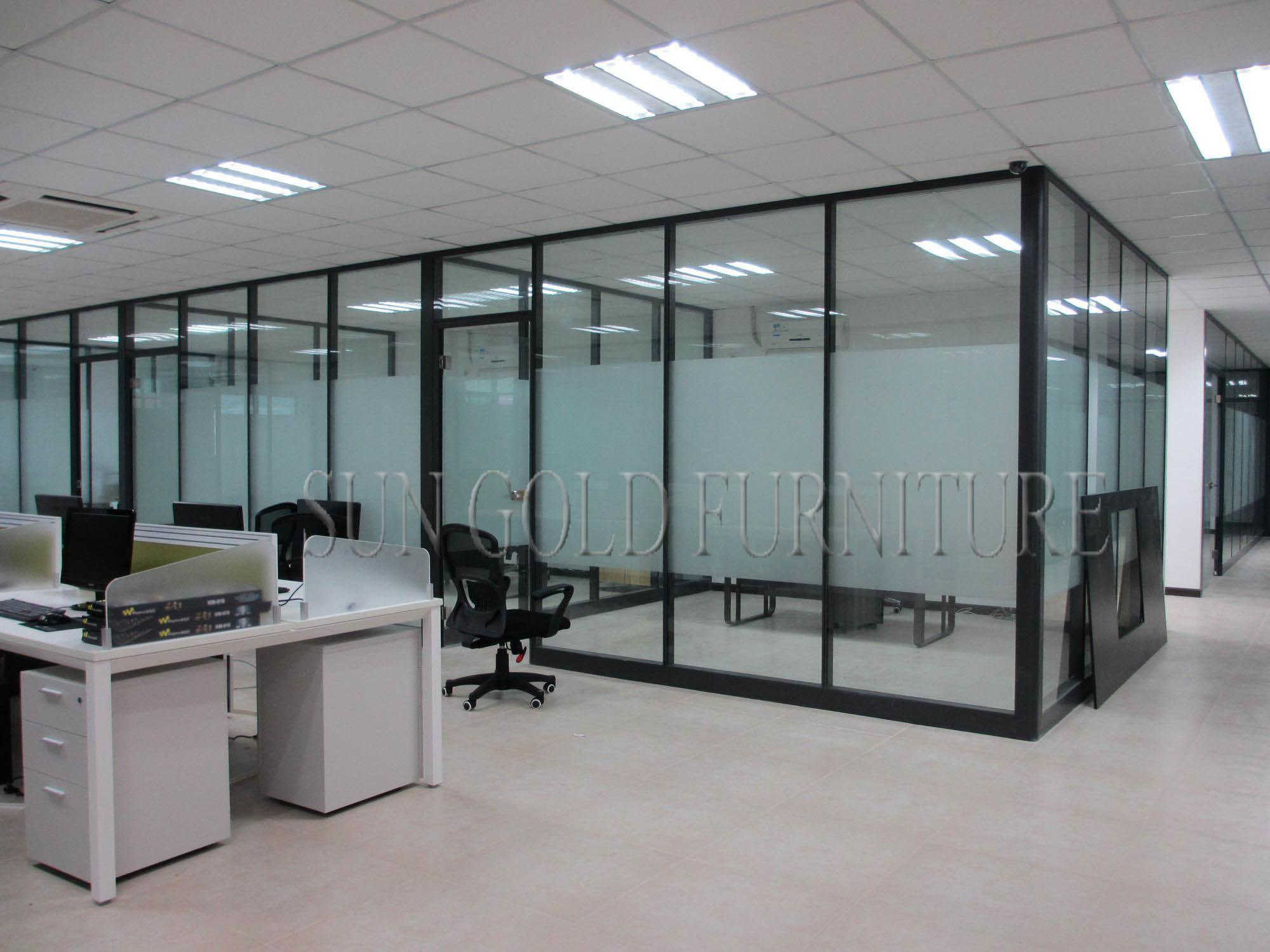 China Floor Ceiling Fosted Glass Modern Demountable