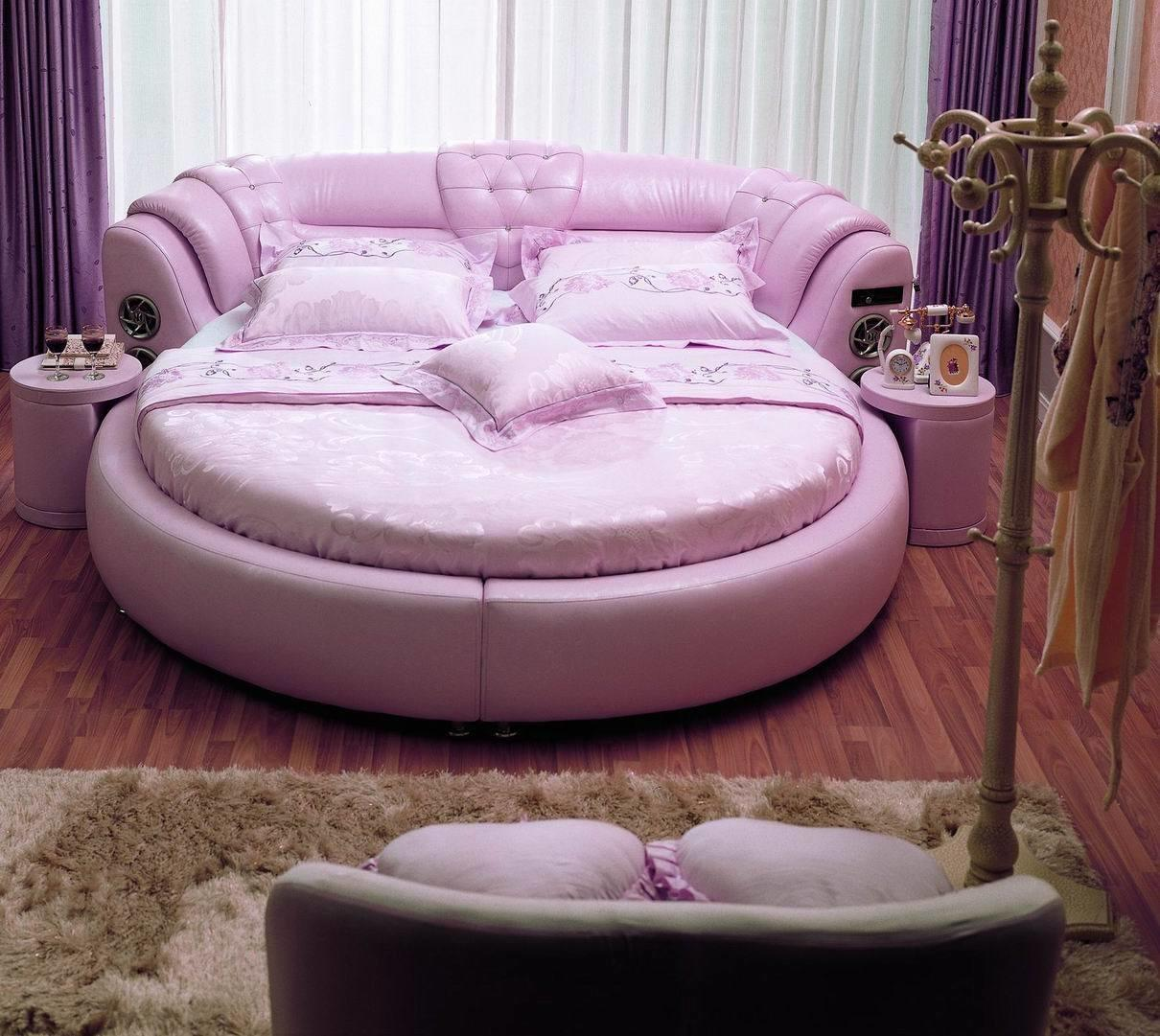 China Round Leather Bed A021