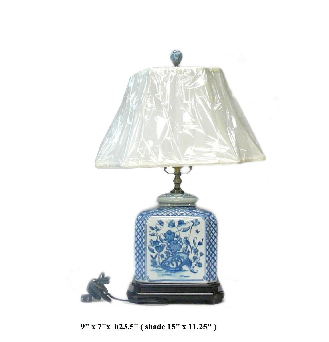 Chinese Blue White Porcelain Jar Table Lamp Vs023