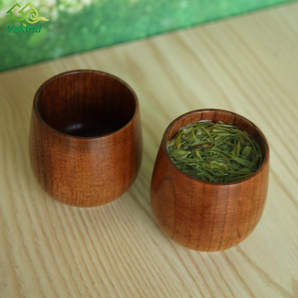 Chinese Style Handmade Natural Spruce Wood Wooden Cup Mug