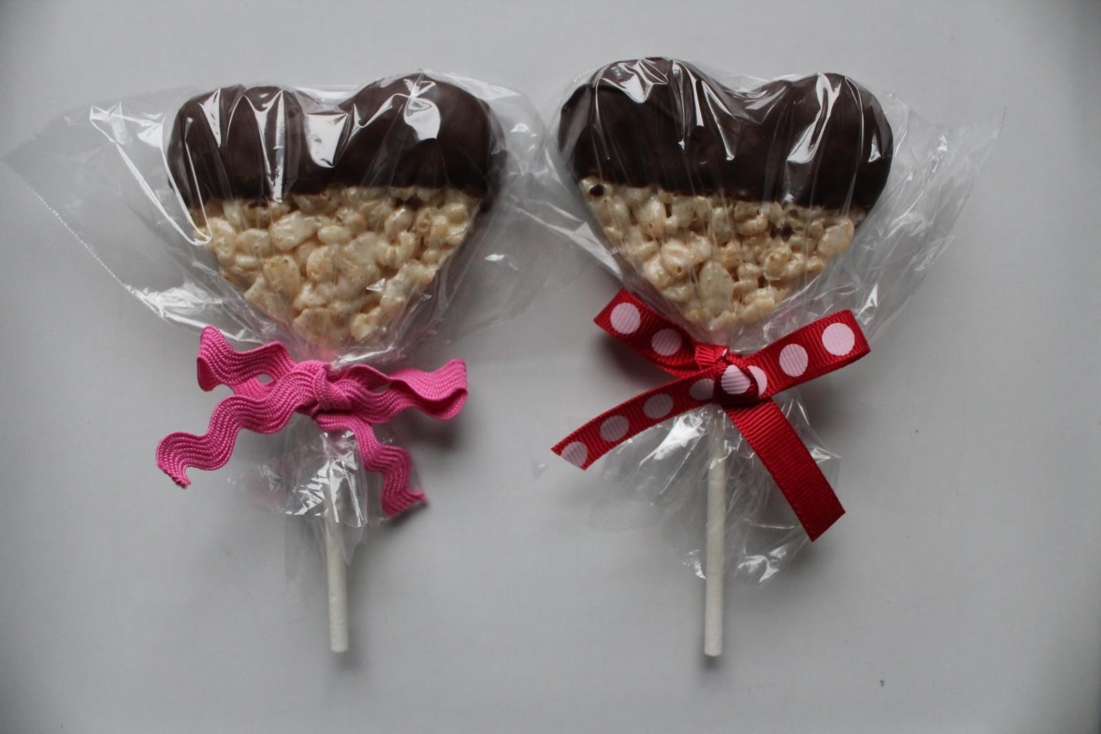 Chocolate Heart Rice Krispie Valentines