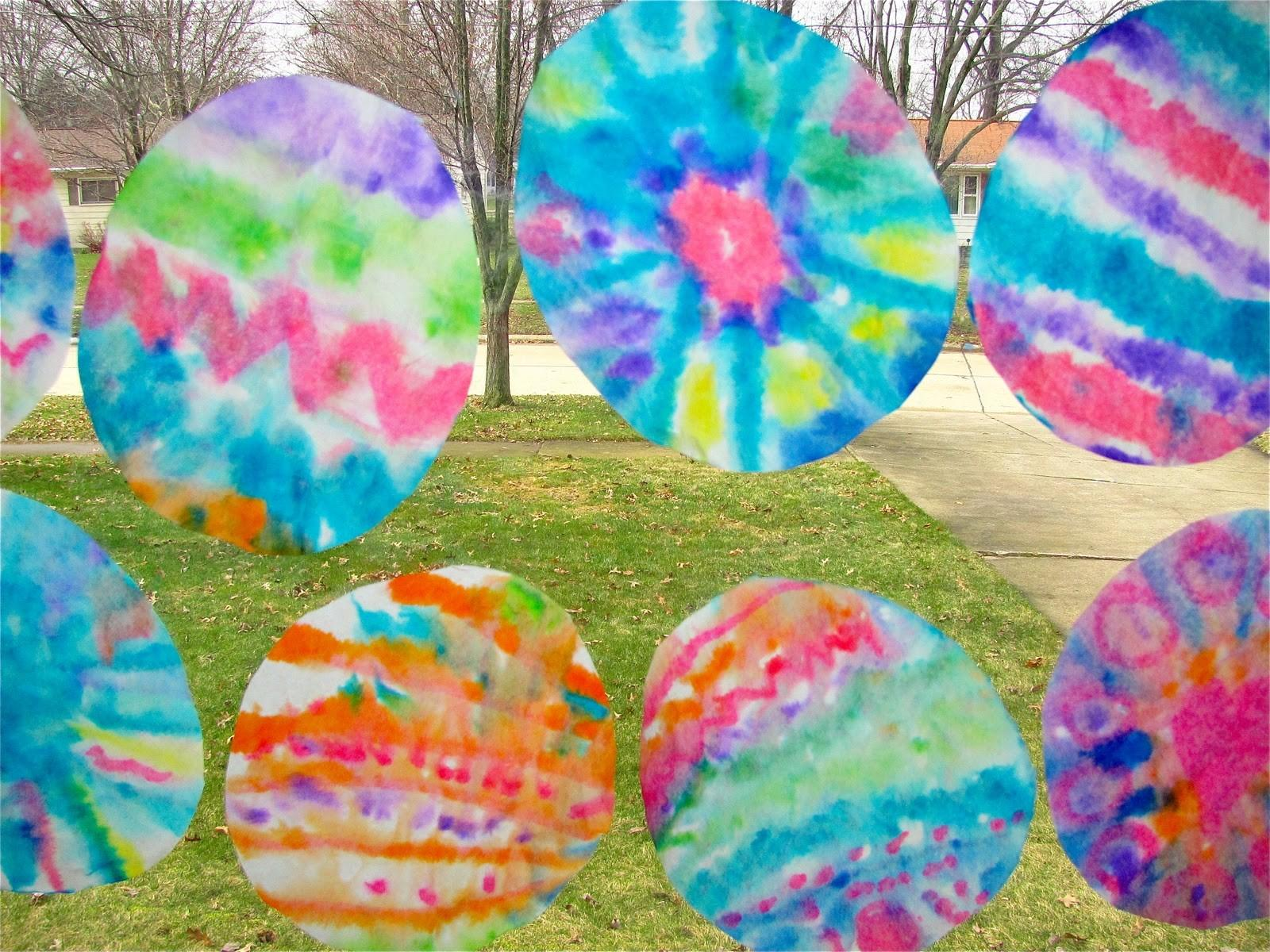 Chocolate Muffin Tree Tie Dyed Coffee Filter Easter Eggs