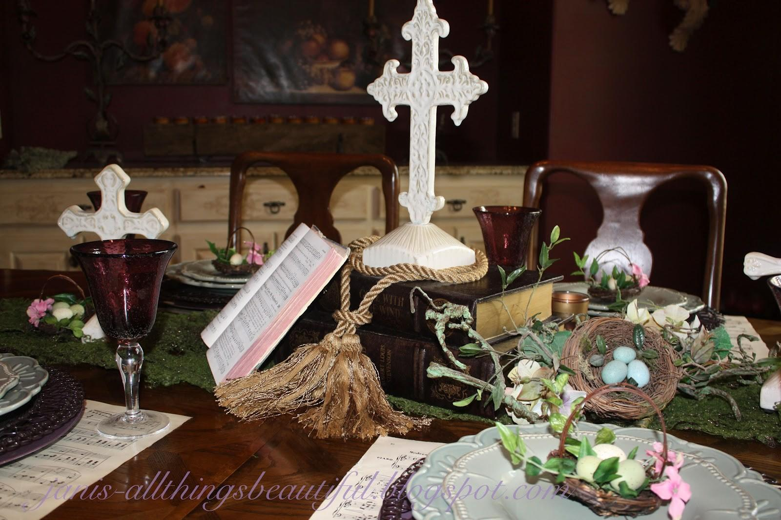 Christian Easter Table Decoration Photograph Just Look