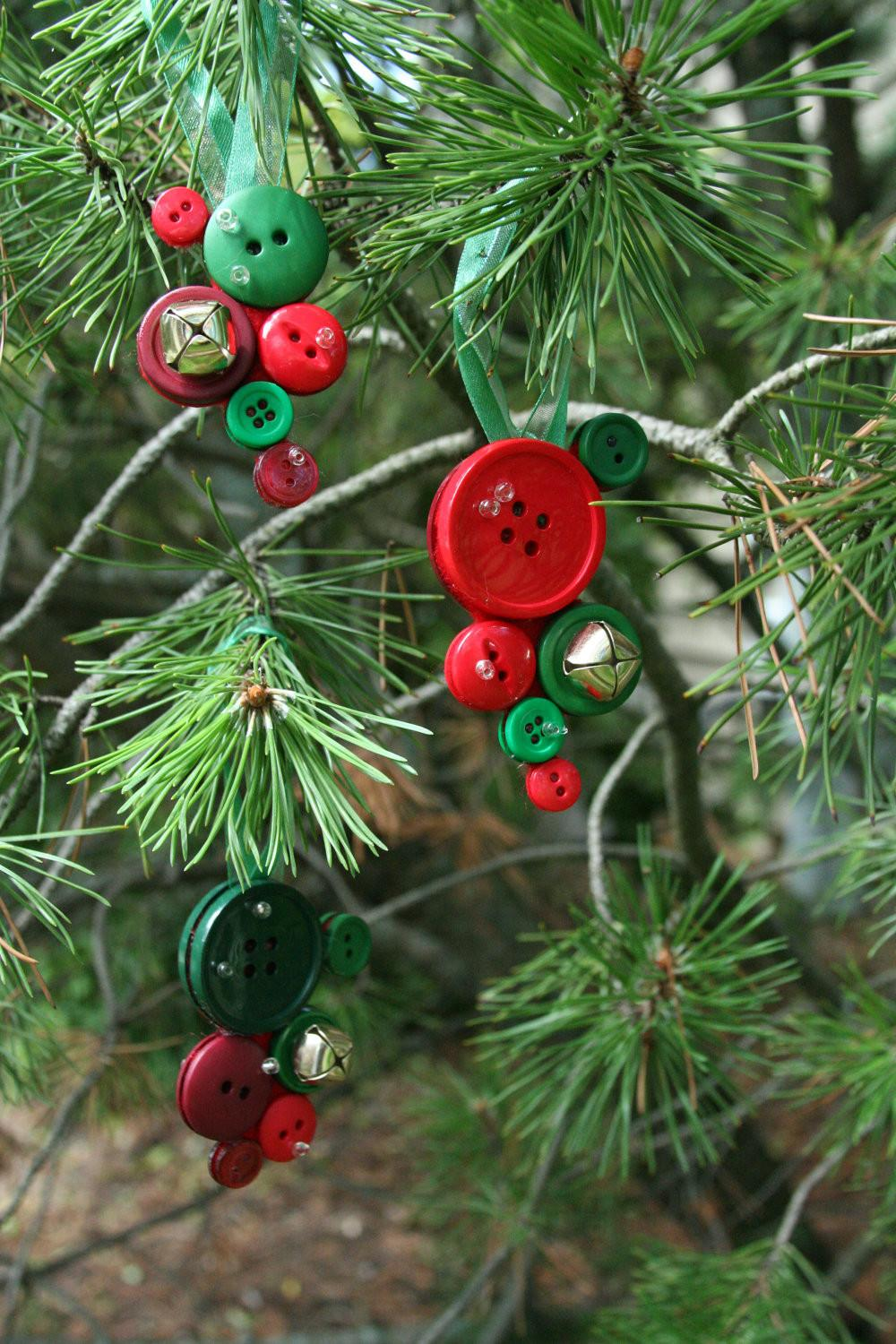 Christmas Button Decorations Made Jingle Bells