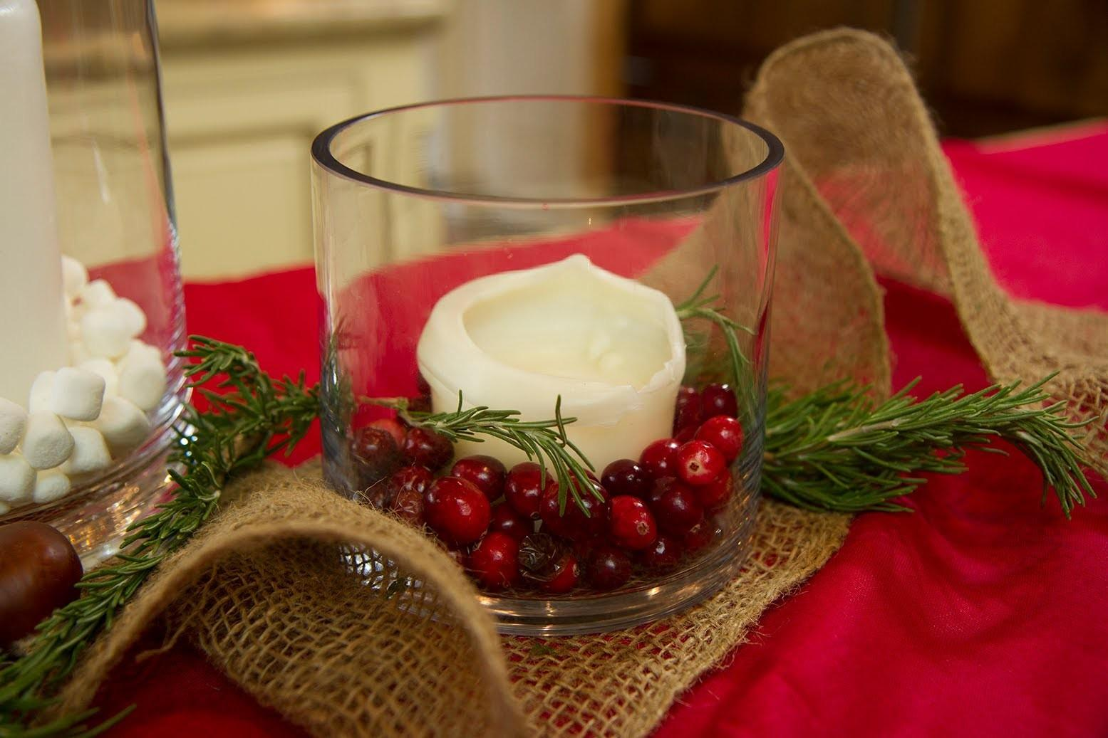 Christmas Candle Centerpiece Ideas Let Craft