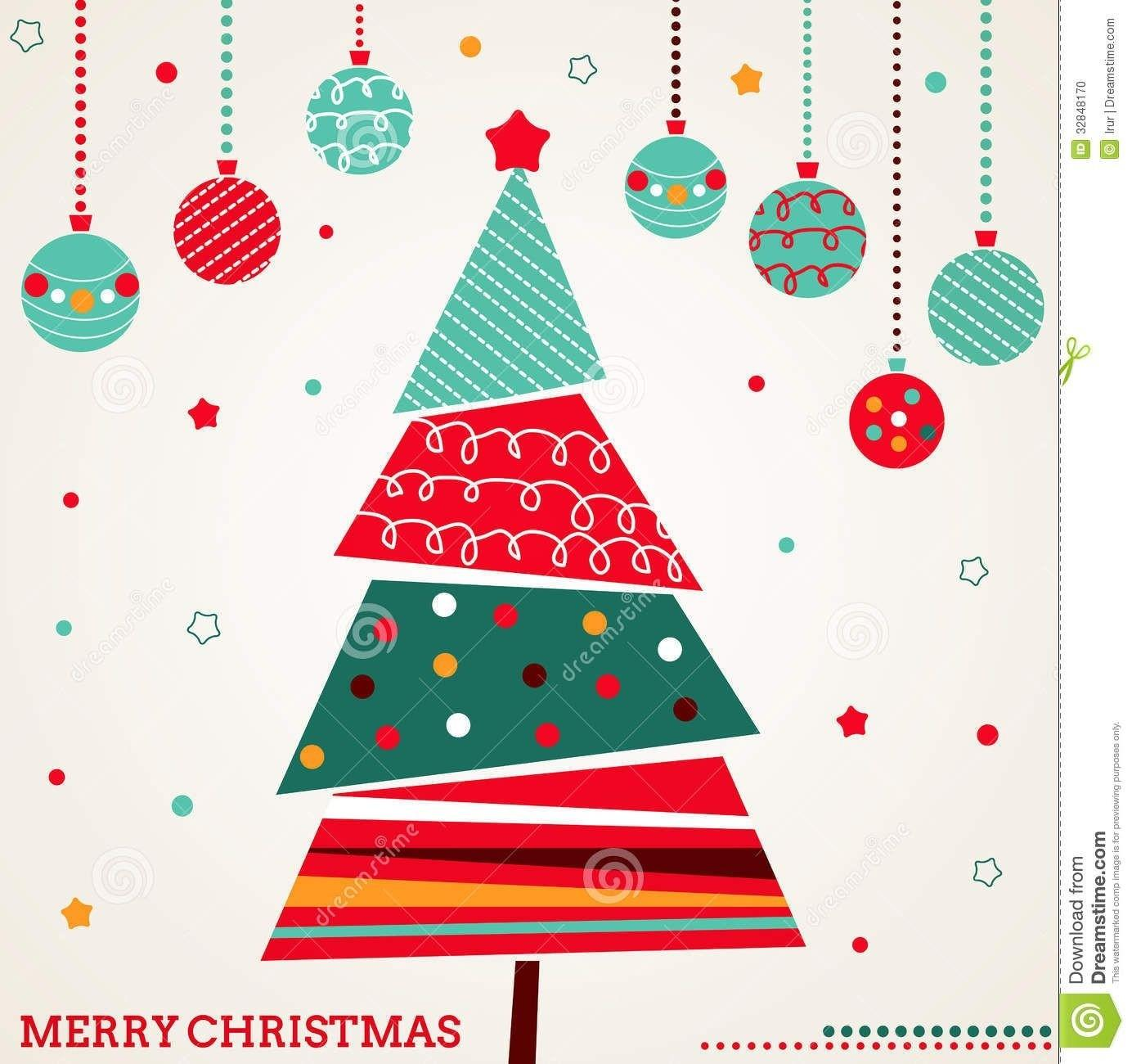 Christmas Card Tree Special Day Celebrations