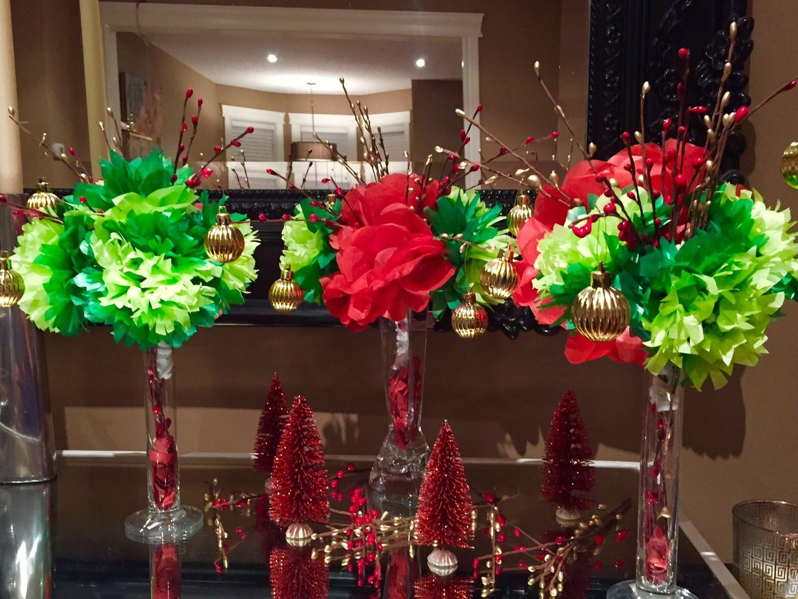 Christmas Centerpiece Diy Paper Flowers