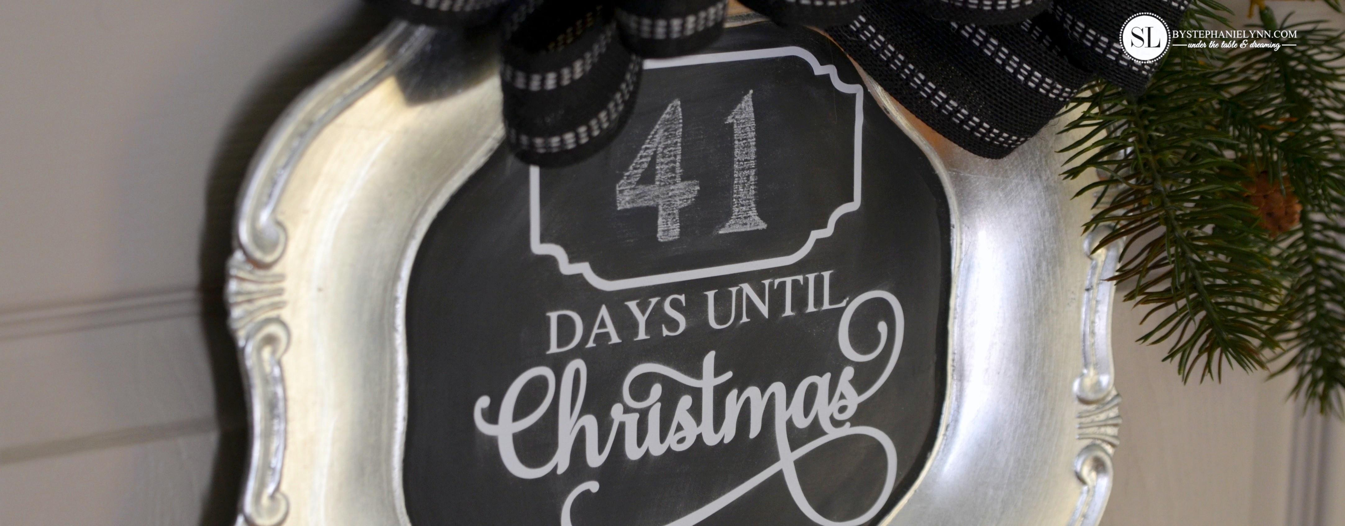 Christmas Countdown Chalkboard Charger Madewithmichaels