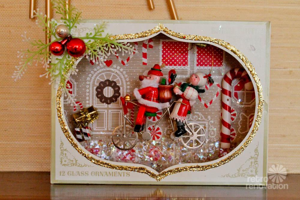 Christmas Craft Make Shadow Box Dioramas Using Vintage