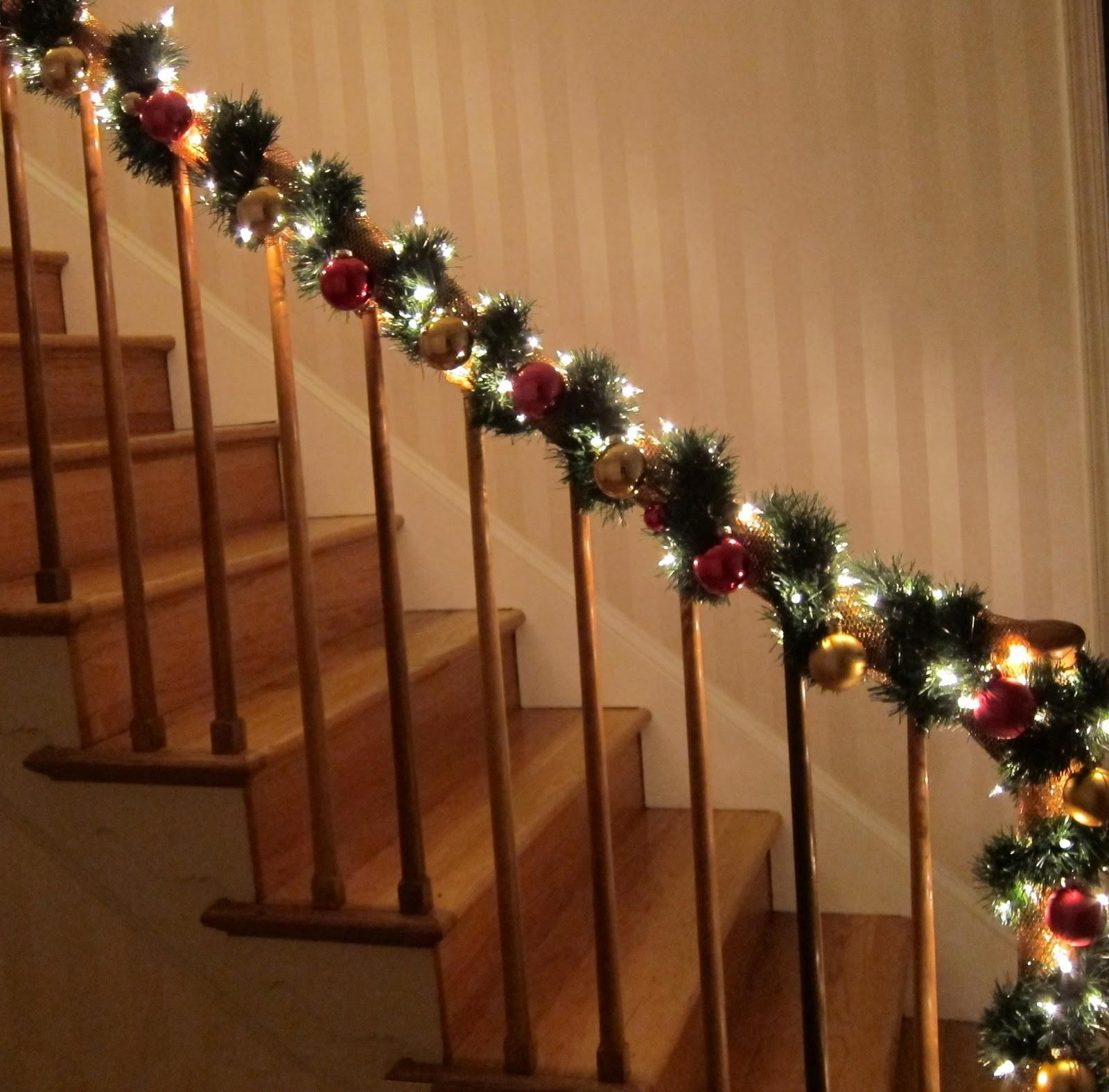 Christmas Decorations Banisters Neaucomic