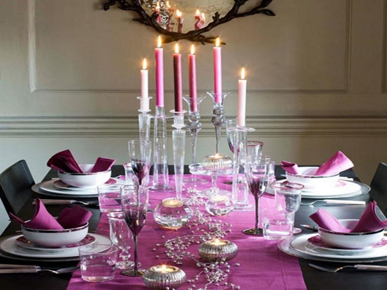 Christmas Decorations Dining Room Table Purple