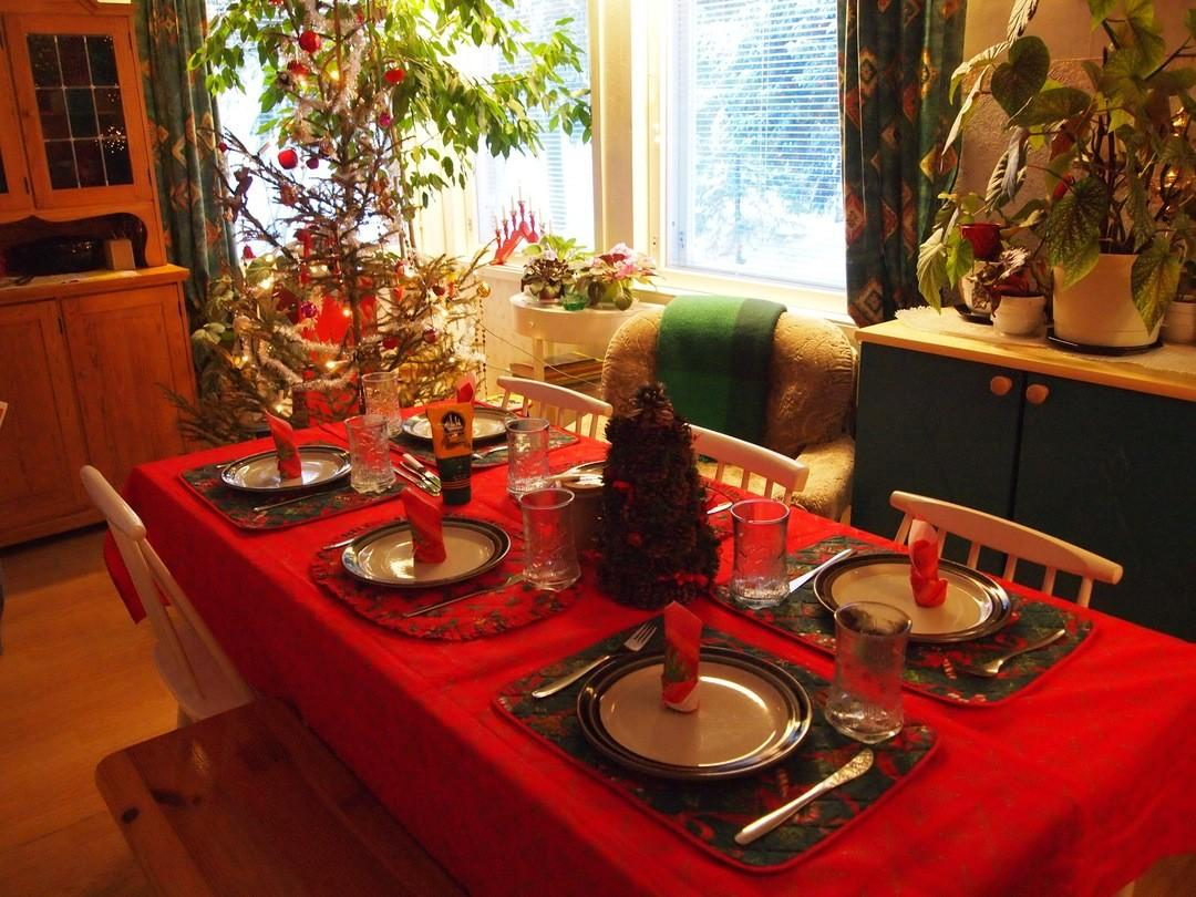 Christmas Decorations Kitchen Table Ideas Awesome Blue Red