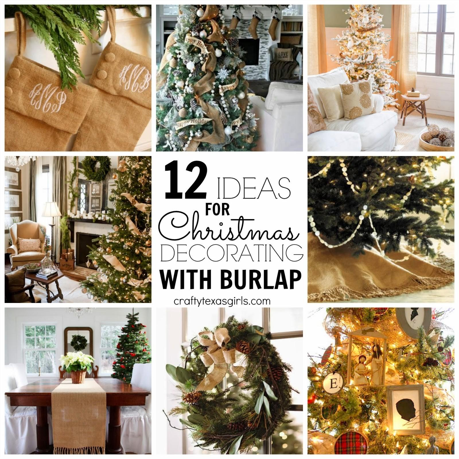 Christmas Decorations Using Burlap Holliday