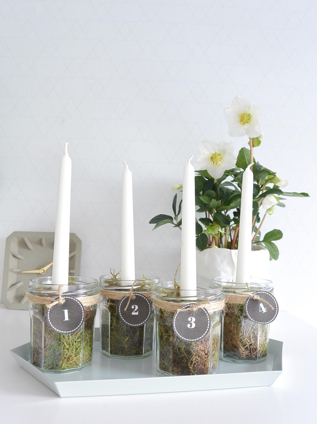 Christmas Diy Advent Candles Coeurrated