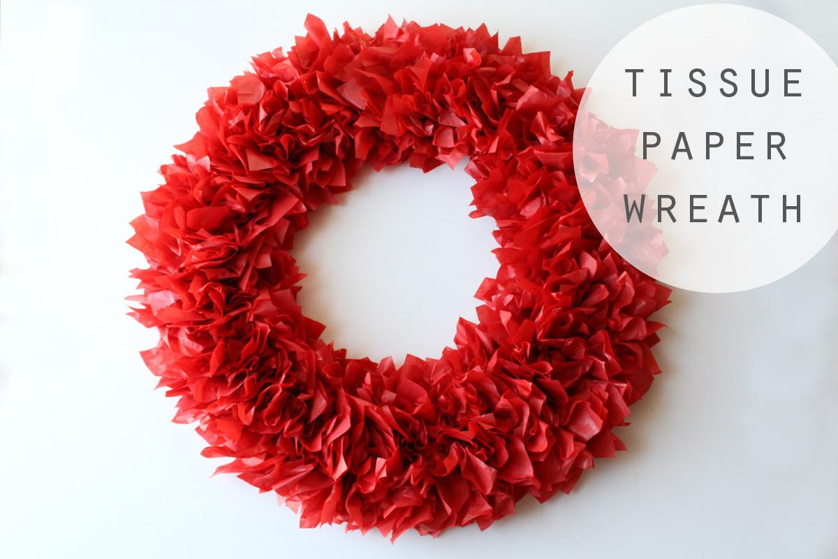 Christmas Diy Wreath Tissue Paper Cool Teen Life