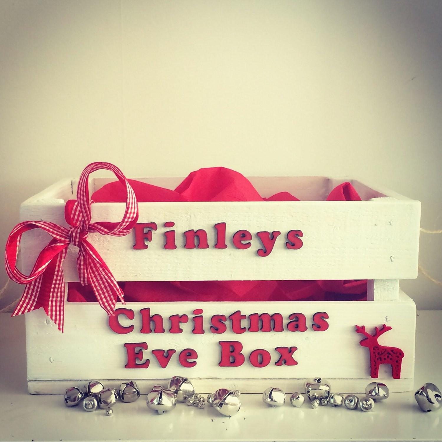 Christmas Eve Box Gift Wooden Crate