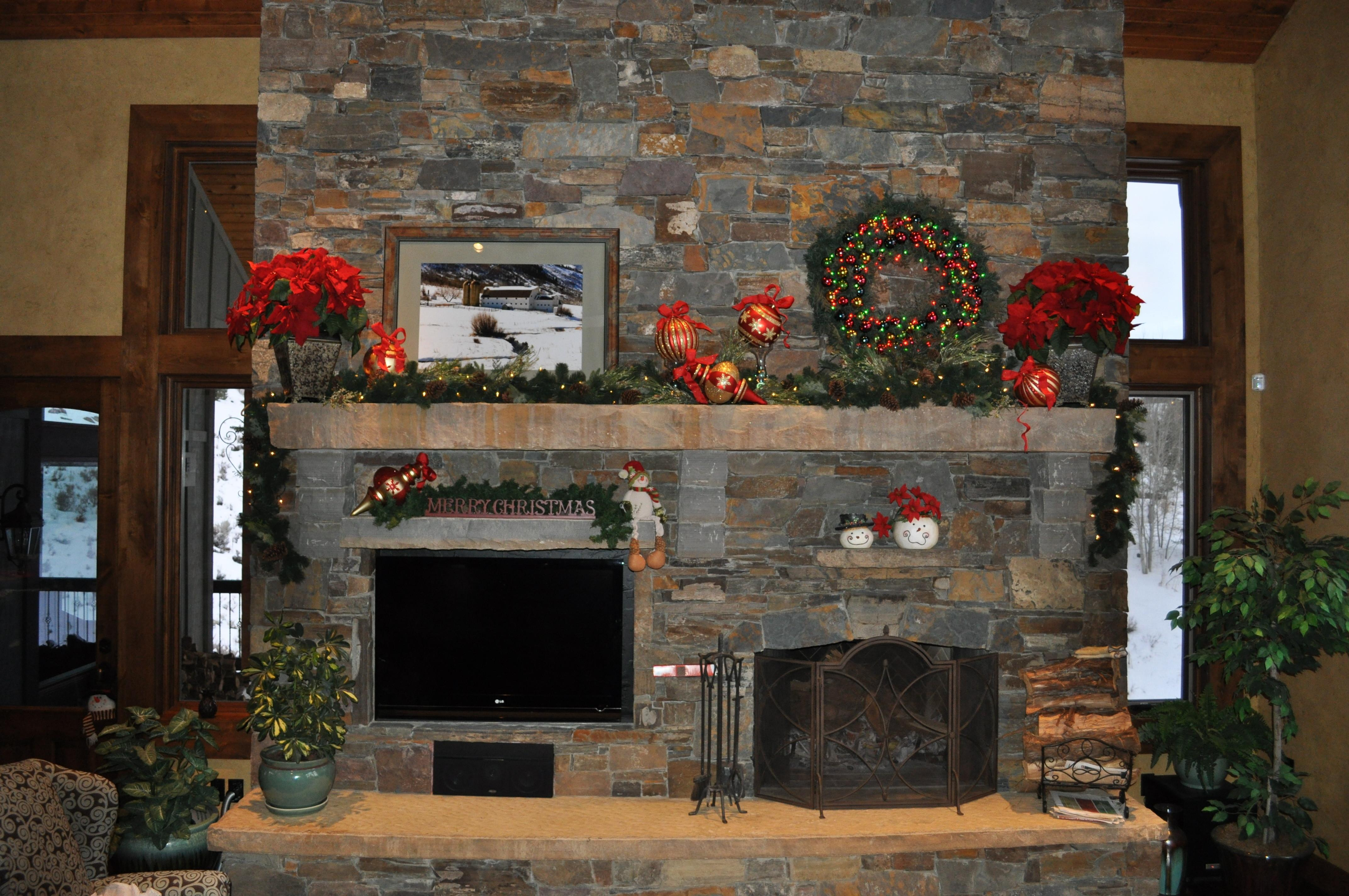 Christmas Fireplace Mantel Celebrating Style Home
