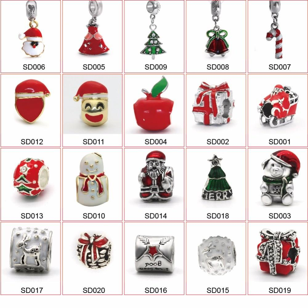 Christmas Gift Charm Beads Jewelry Making Material Fit
