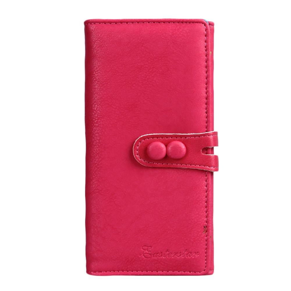 Christmas Gifts Women Wallets Long Cluth Leather Wallet