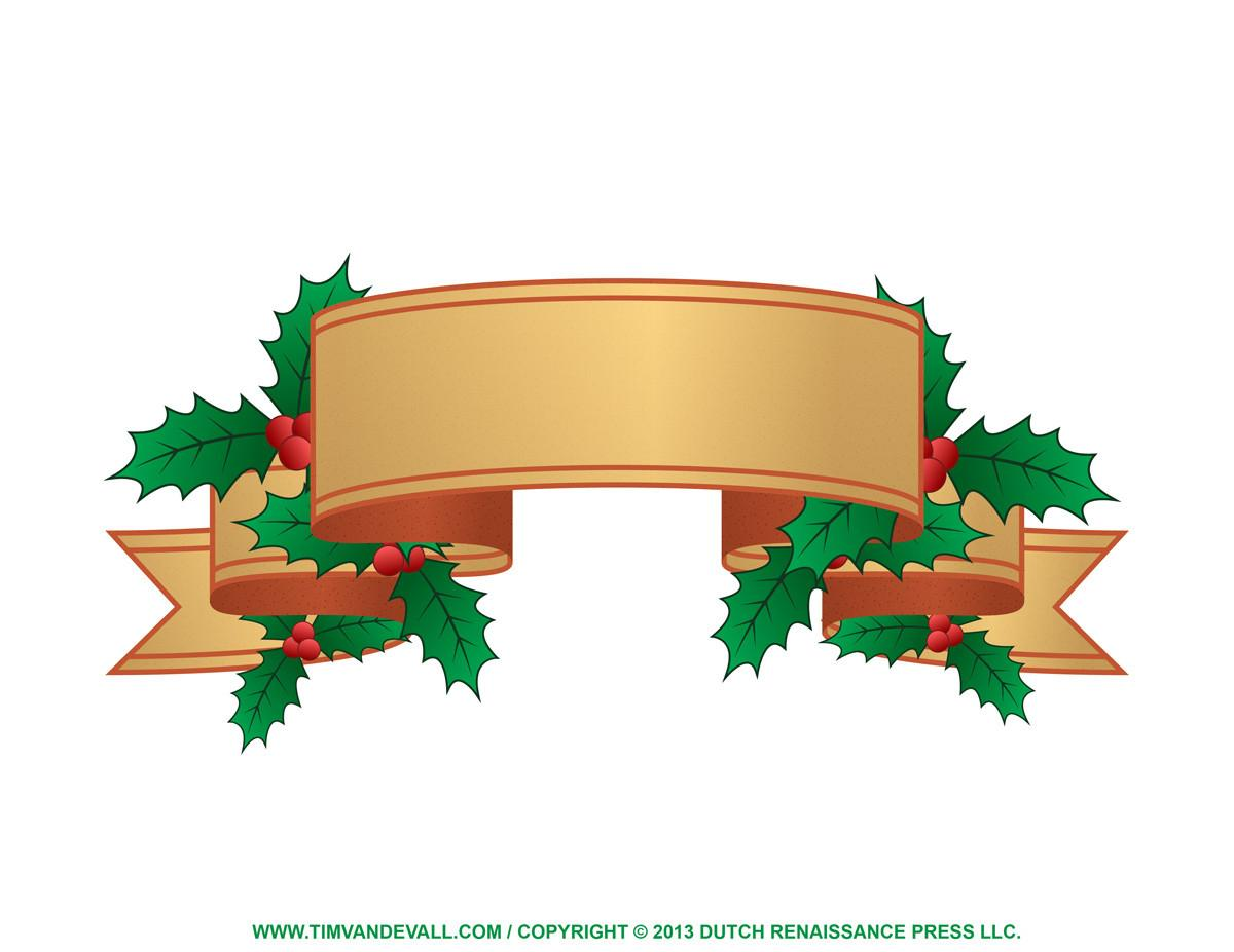 Christmas Label Clip Art Tim Printables
