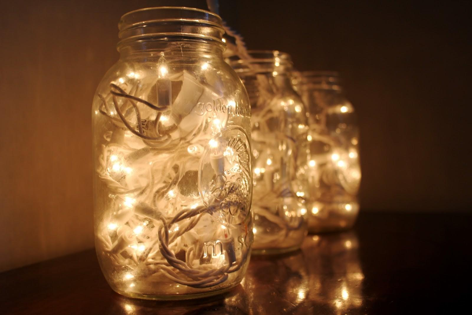 Christmas Light Decorations Jar All