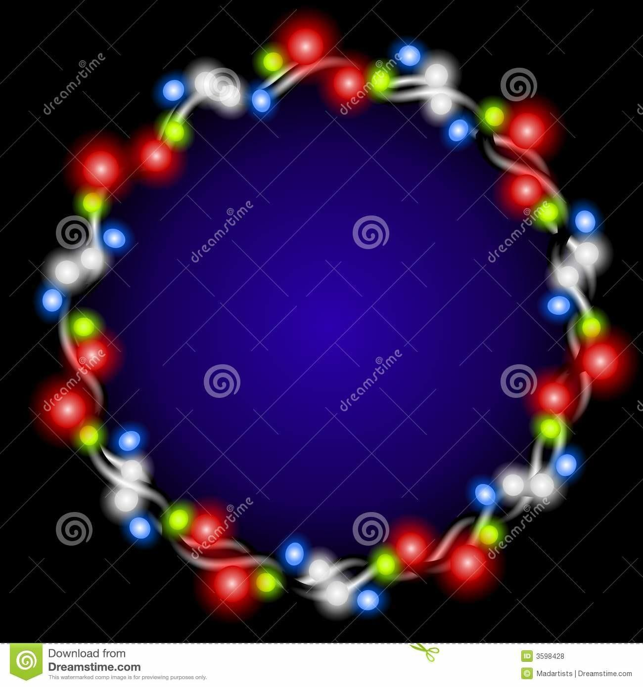 Christmas Lights Wreath Glow Royalty Stock Photos