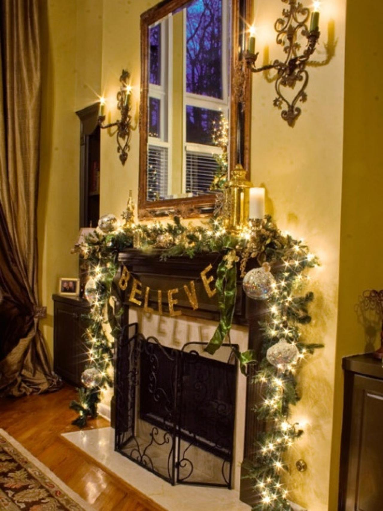 Christmas Mantels Interior Design Styles Color