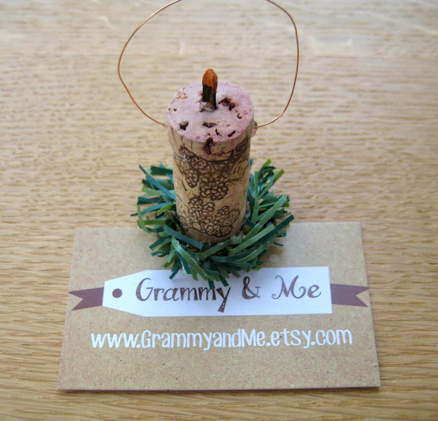 Christmas Ornament Craft Kit Wine Cork