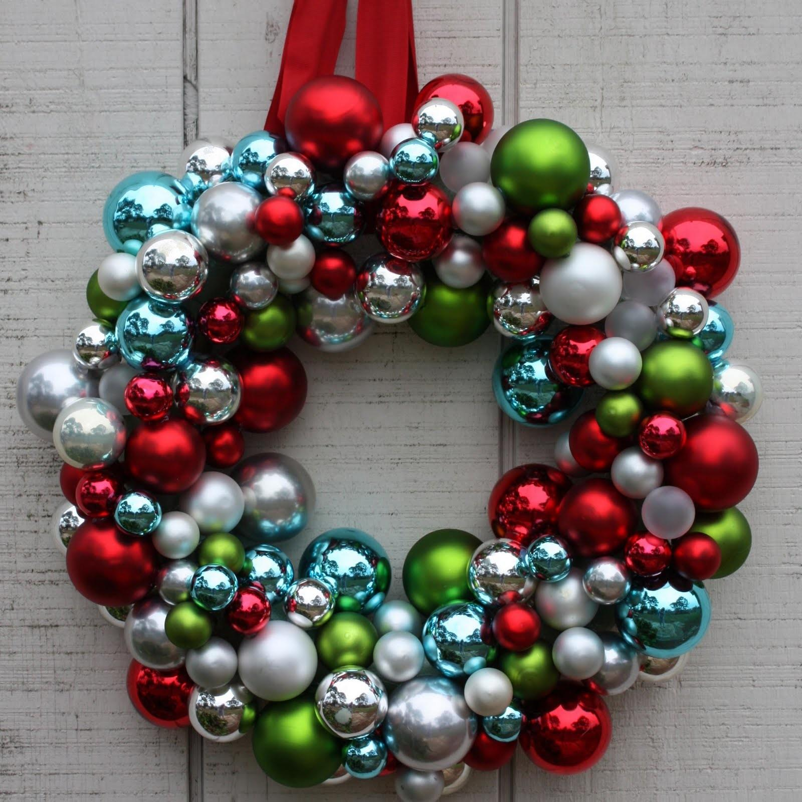 Christmas Ornament Wreath Diy Holiday Decor Ideas