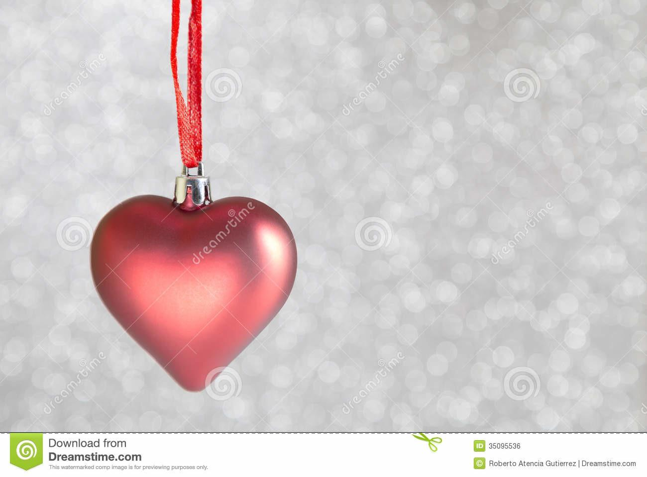 Christmas Ornaments Heart Shaped Stock