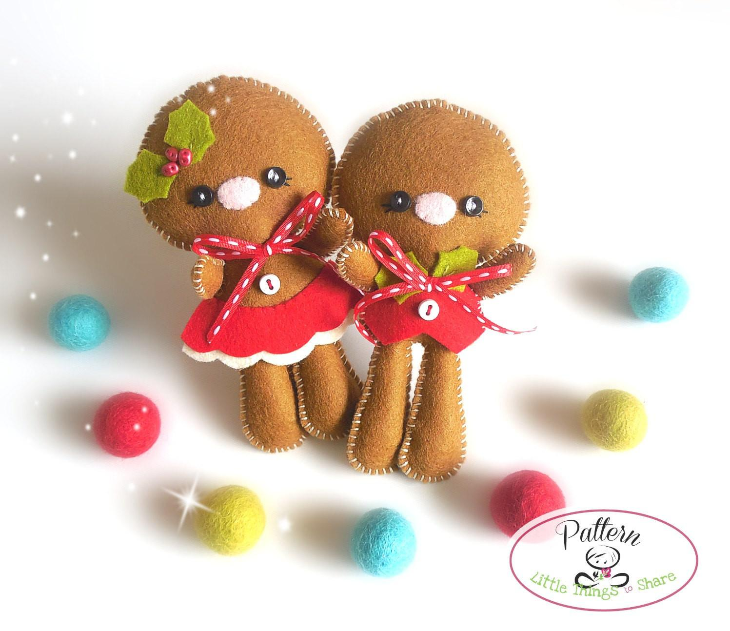 Christmas Ornaments Patterns Set Two Gingerbread Kids