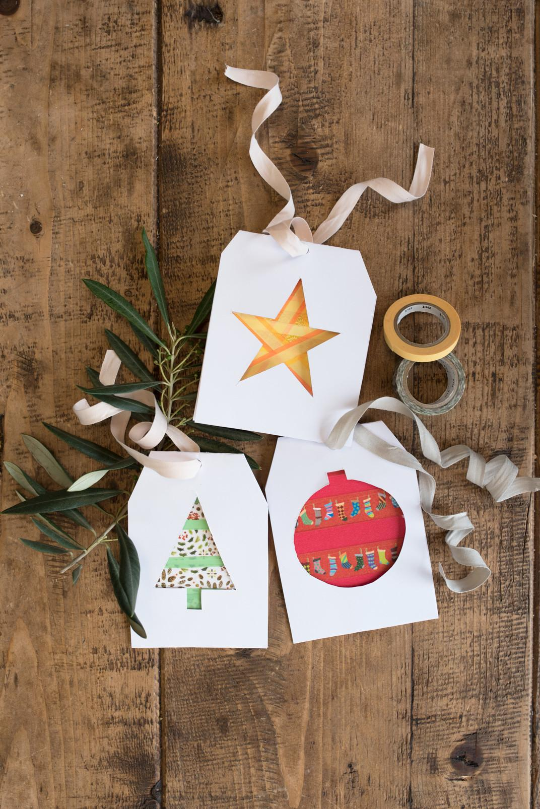 Christmas Paper Crafts Make Washi Tape Decorations
