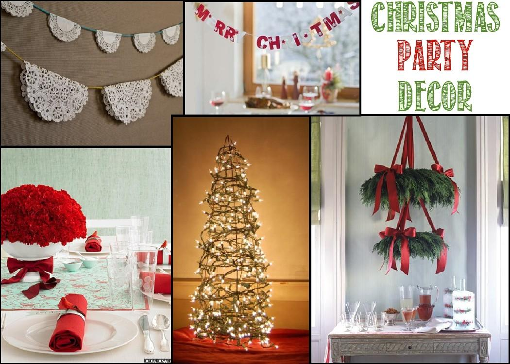 Christmas Party Decor Letter Recommendation