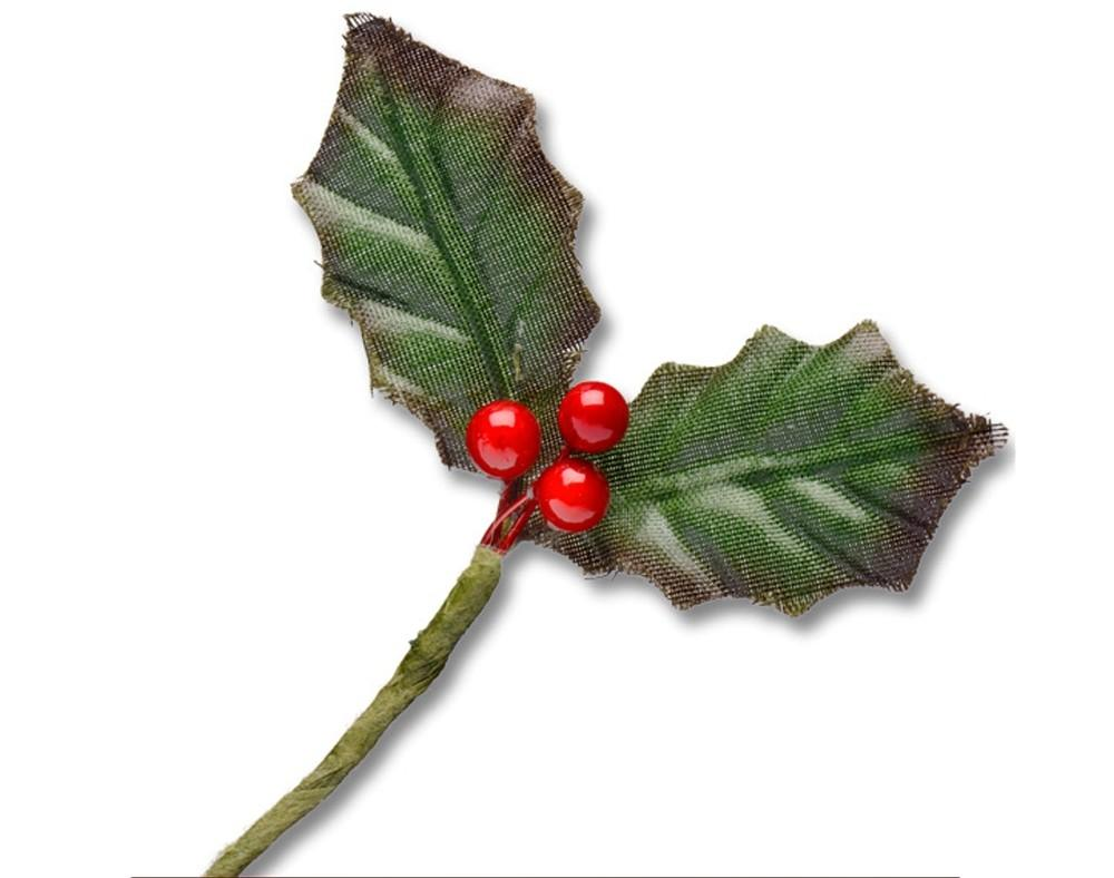 Christmas Picks Holly Leaves Berries