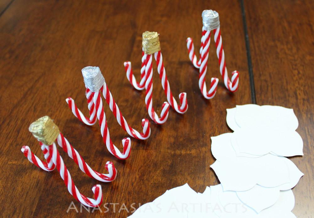Christmas Place Card Holder Candy Cane