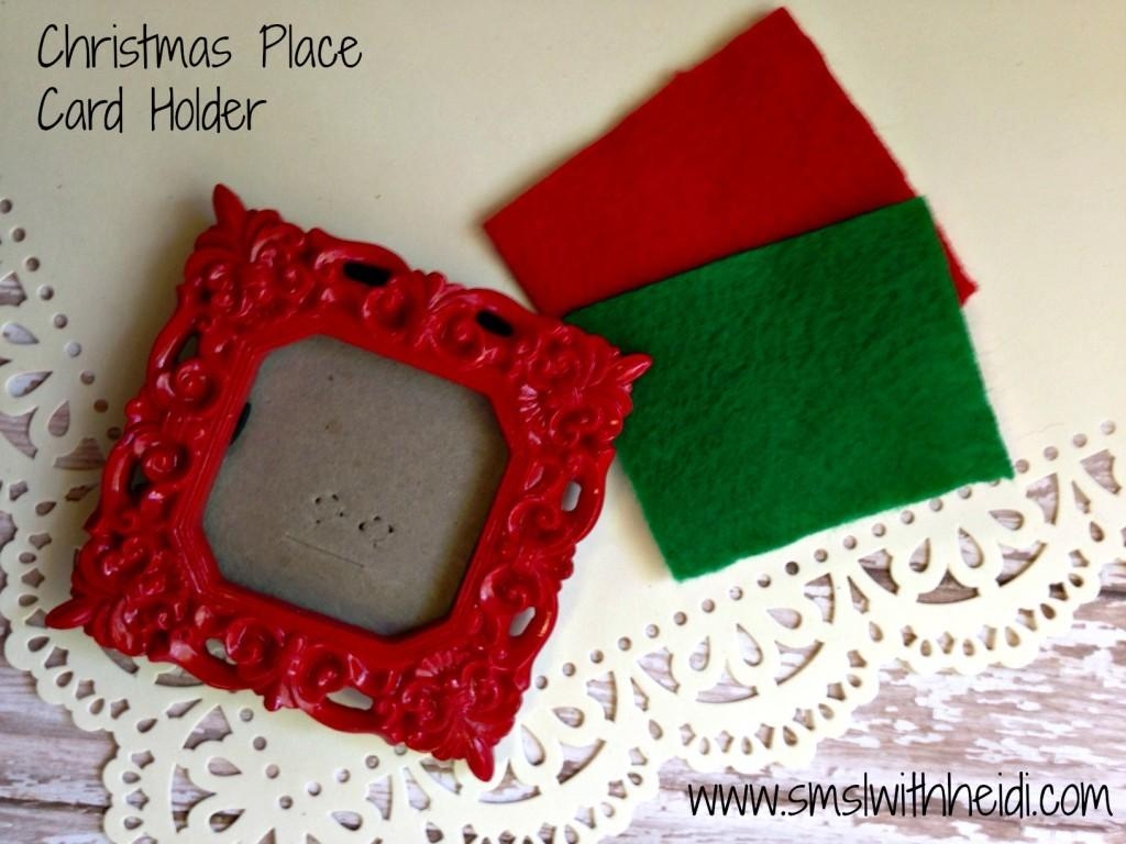 Christmas Place Card Holder Save More Spend Less