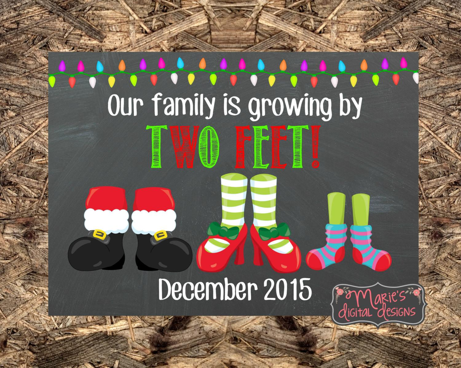 Christmas Pregnancy Announcement Our Family Growing