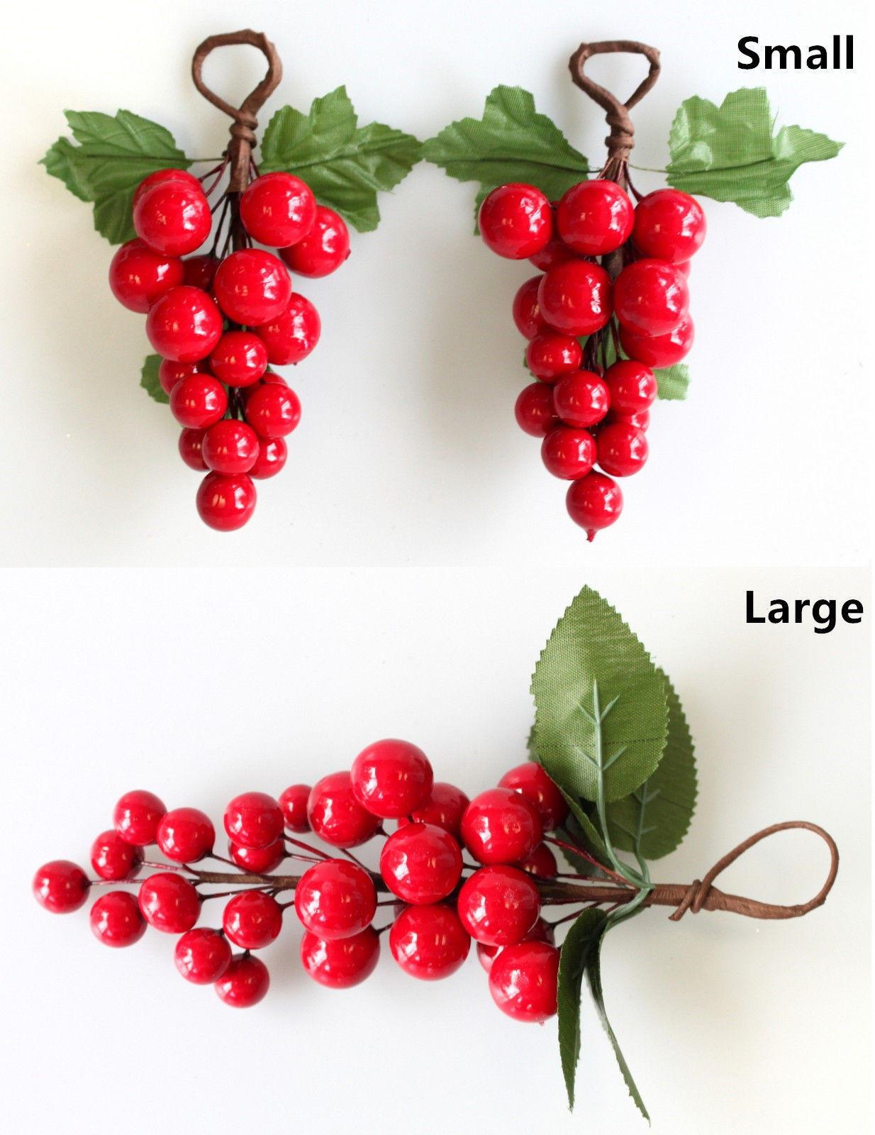 Christmas Red Berry Pick Holly Branch Wreath