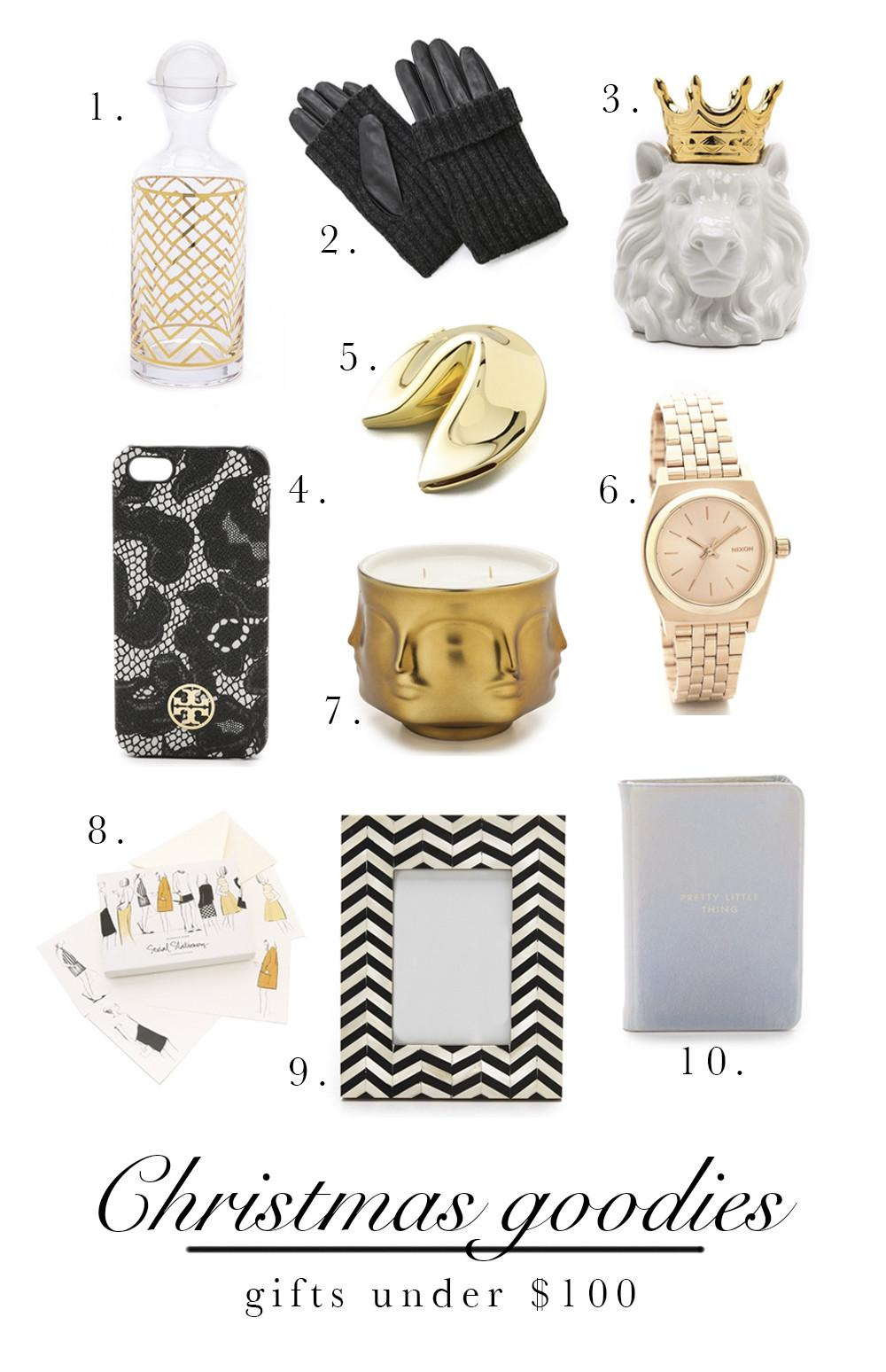 Christmas Shopping Gifts Under 100