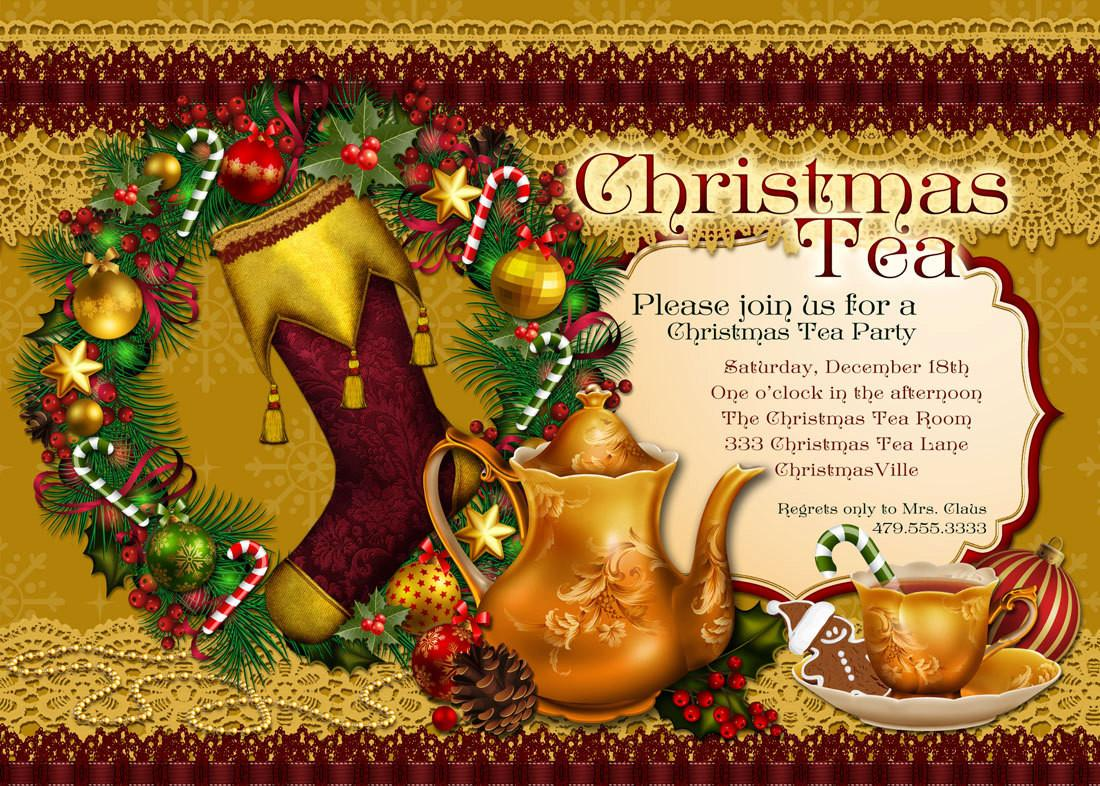 Christmas Tea Party Invitation Holiday