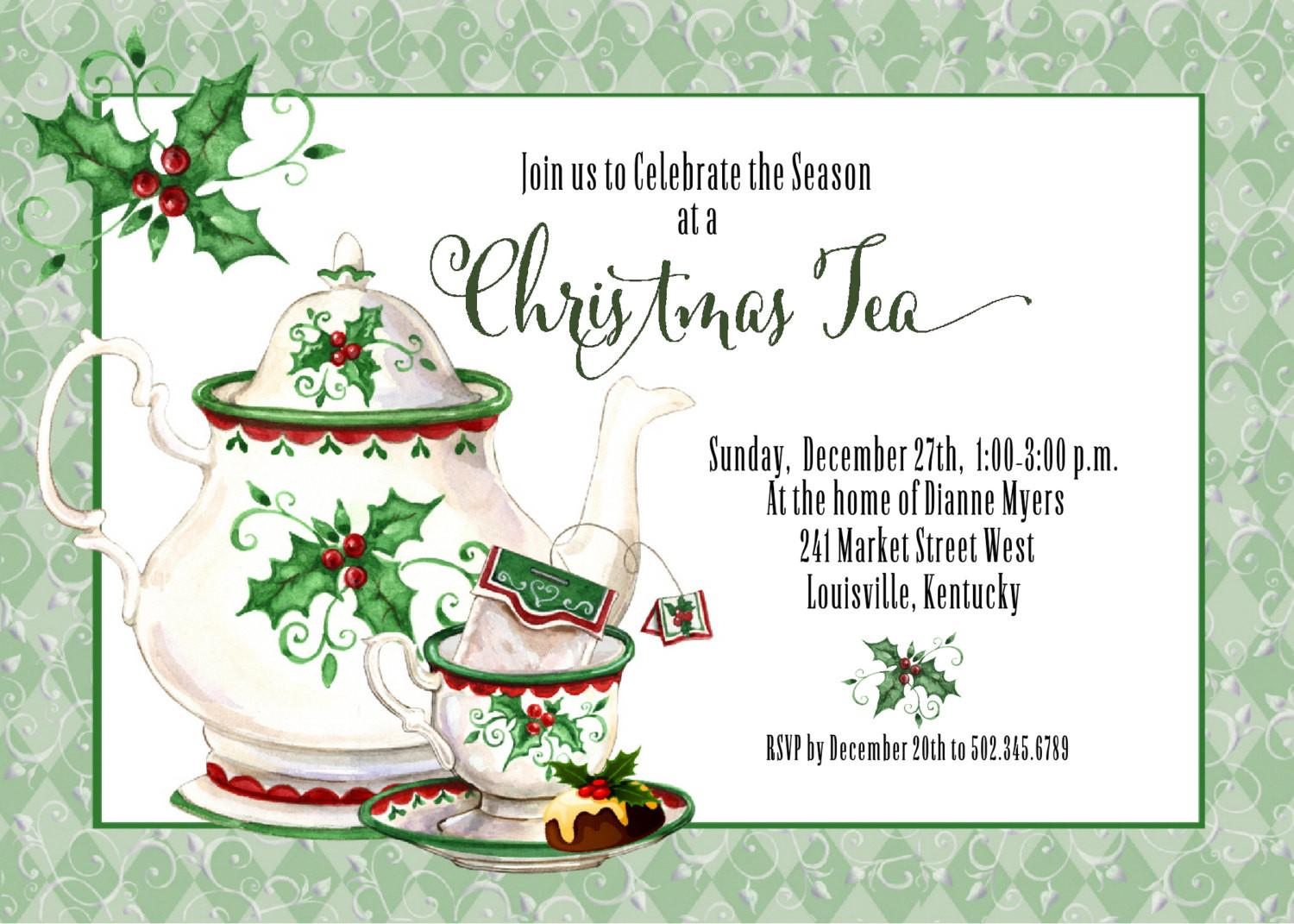 Christmas Tea Party Invitations Disneyforever