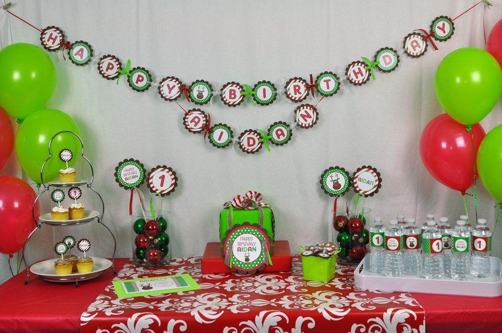 Christmas Themed Birthday Party Ideas Home
