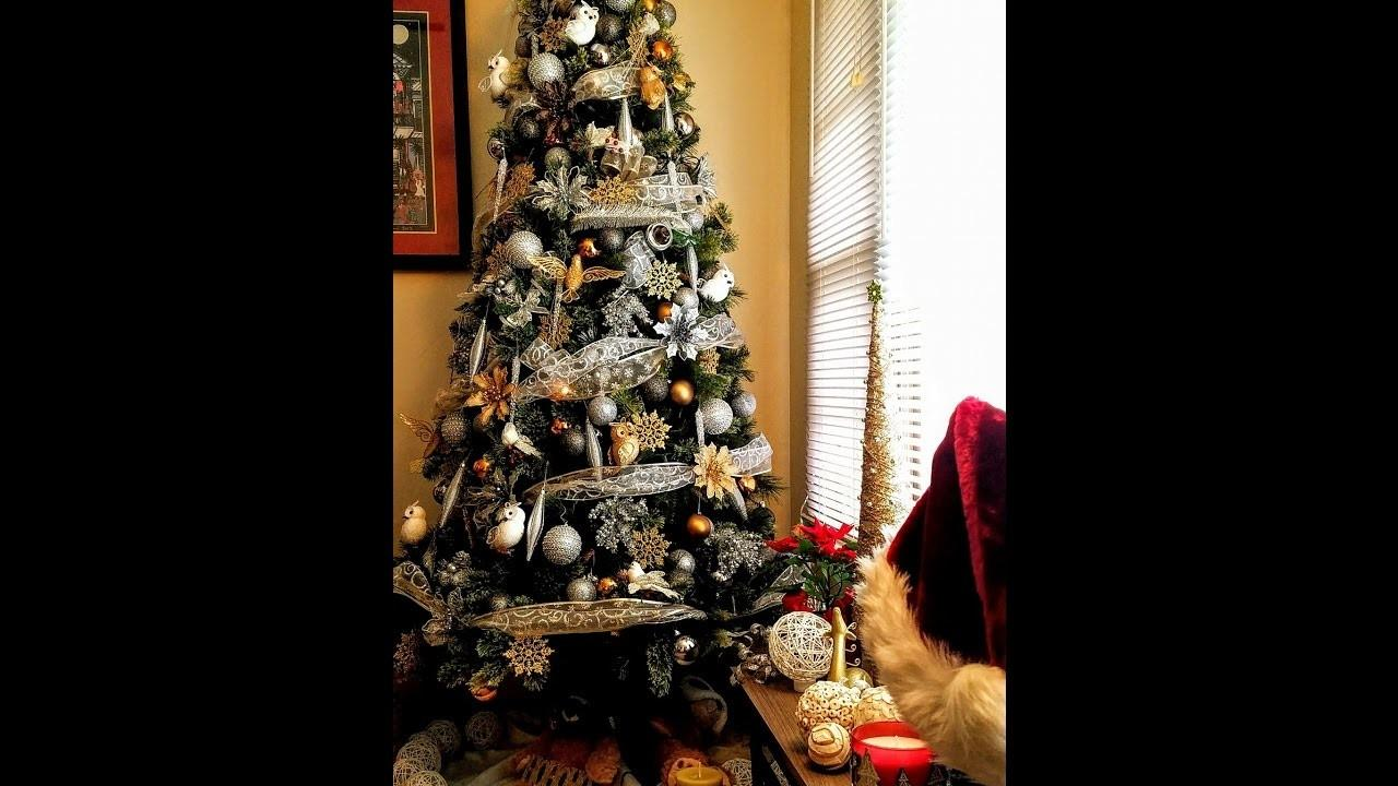 Christmas Tree Decorating Ideas Gold Silver White
