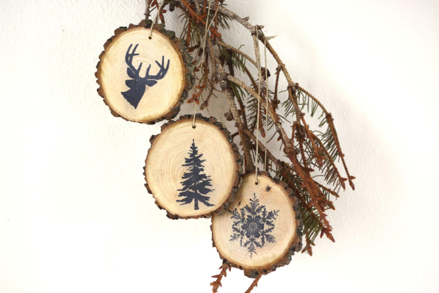 Christmas Tree Ornament Set Rustic