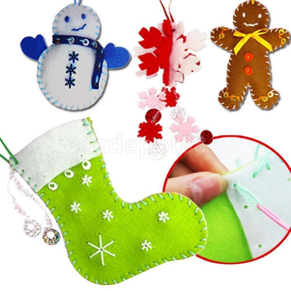 Christmas Tree Ornaments Decorations Felt Pendants Kid
