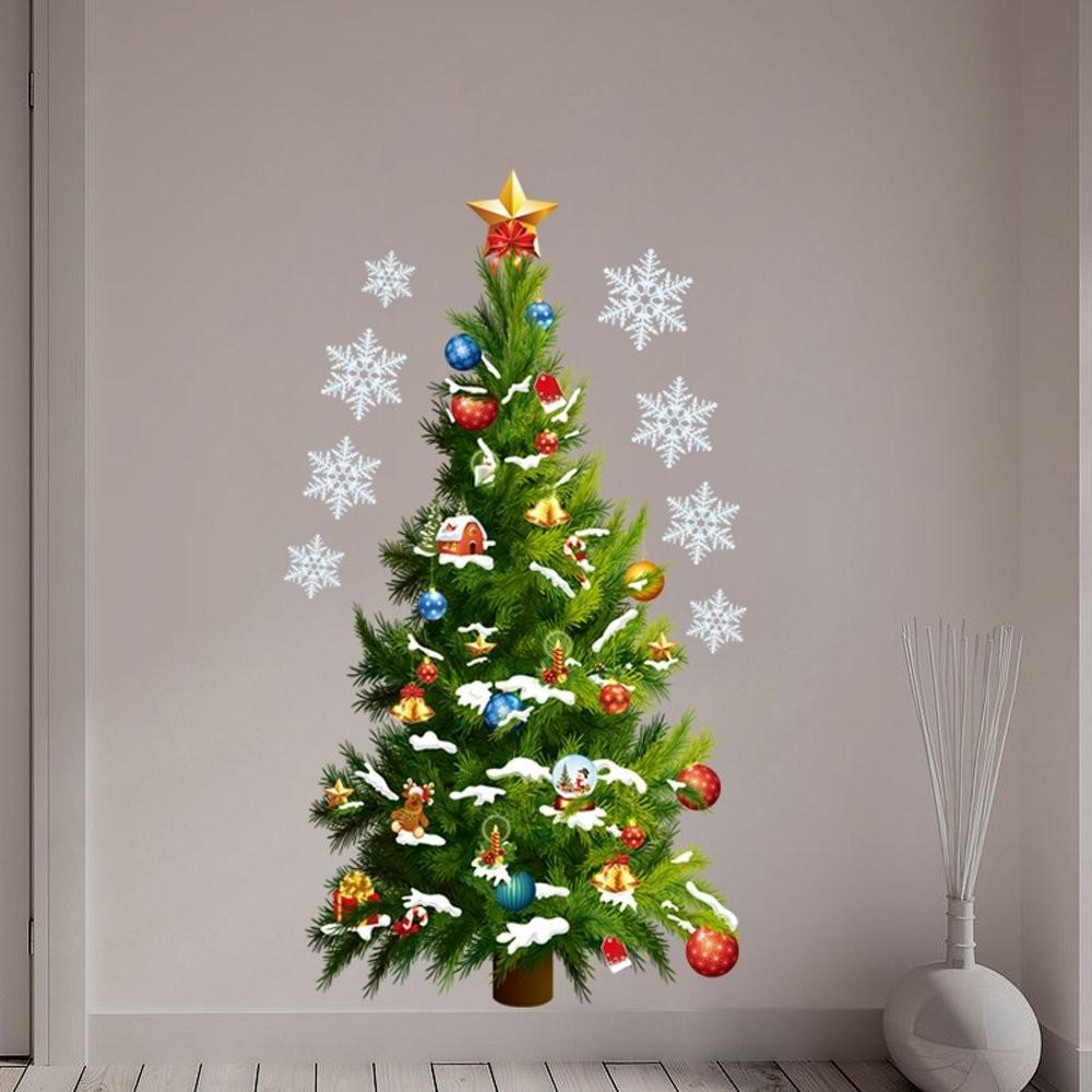 Christmas Tree Stars Removable Wall Stickers Art Decals