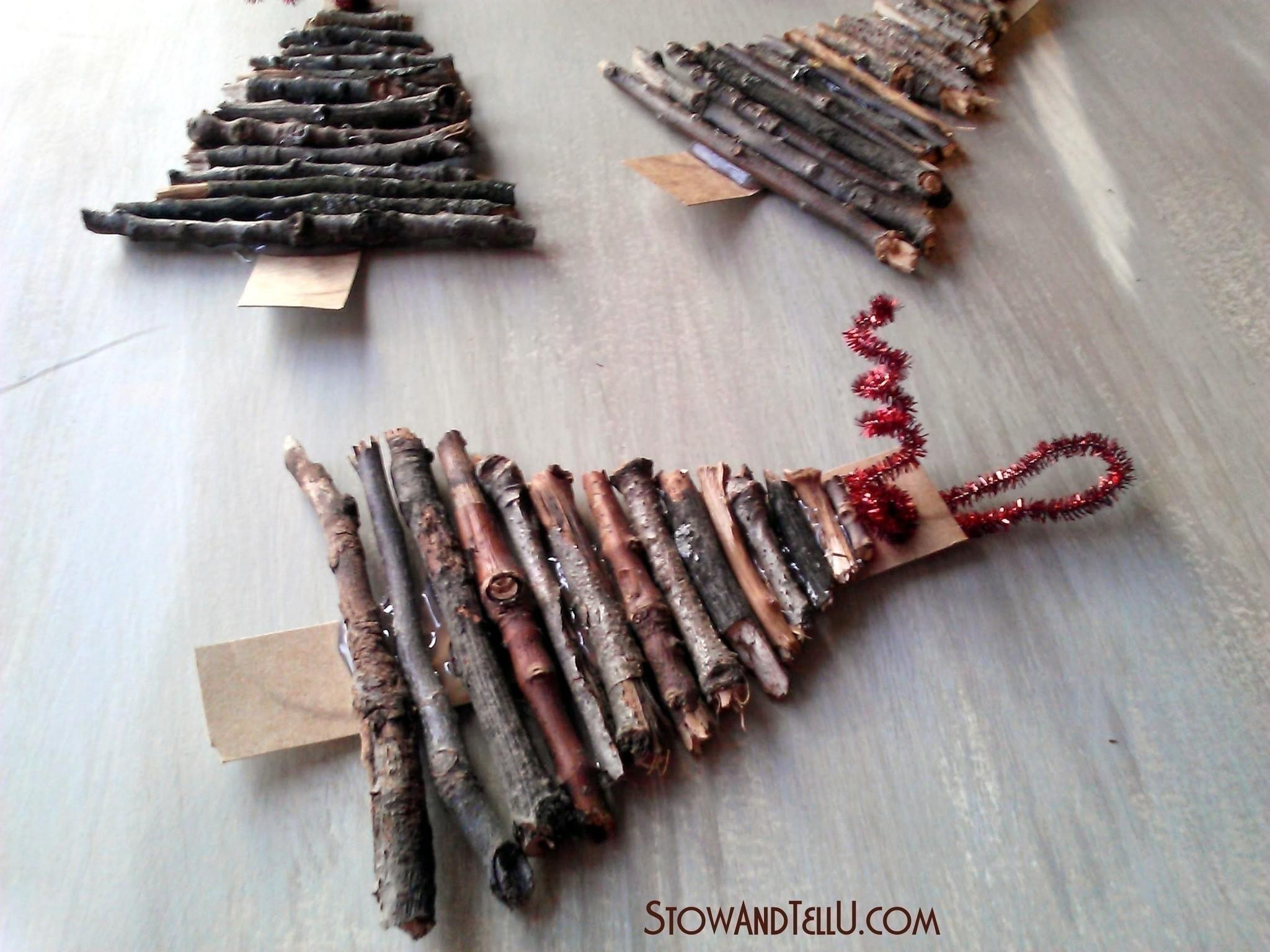Christmas Tree Twig Ornaments Make